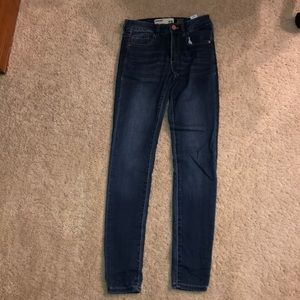 Garage High Waist Mid-wash Jeans